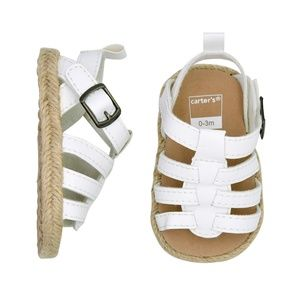 Carter's Espadrille White Sandals